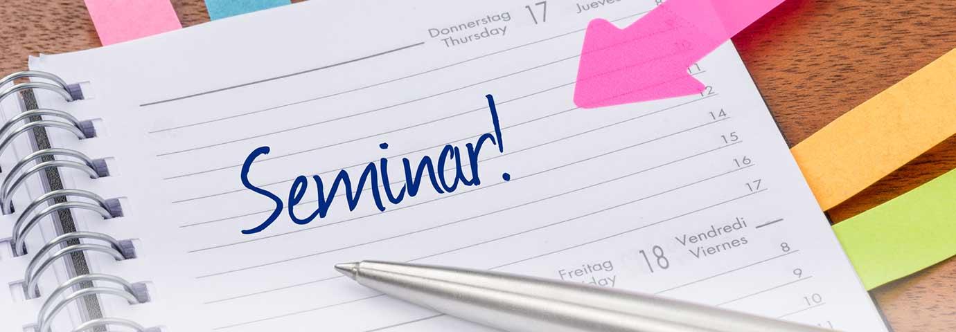Kalender mit Seminarterminen