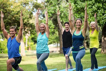 Teilnehmer mental fit durch Bewegung